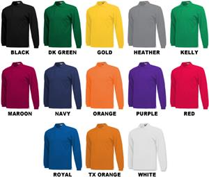 Baw Adult Long Sleeve Classic Polo Shirts