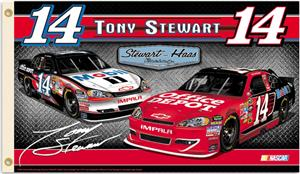 NASCAR Tony Stewart #14 2-Sided 3' x 5' Flag