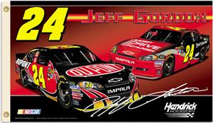 NASCAR Jeff Gordon #24 2-Sided 3' x 5' Flag