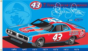 NASCAR Richard Petty #43 2-Sided 3' x 5' Flag