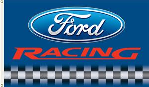 NASCAR Ford Racing Blue Background 1-Sided Flag