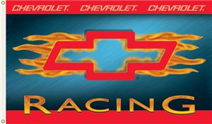 NASCAR Chevy Racing w/Flames 1-Sided Flag
