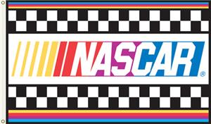 NASCAR with Stripes 1-Sided 3' x 5' Flag