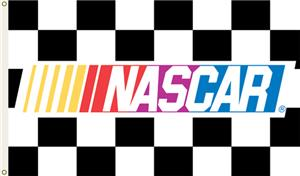 NASCAR Checkered 1-Sided 3' x 5' Flag