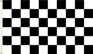 NASCAR Plain Checkered 1-Sided 3' x 5' Flag