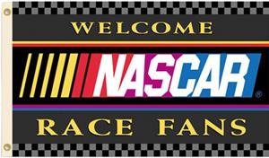 NASCAR Welcome Race Fans 1-Sided Flag