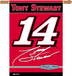 "NASCAR Tony Stewart #14 2-Sided 28"" x 40"" Banner"
