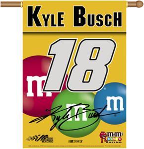 "NASCAR Kyle Busch #18 2-Sided 28"" x 40"" Banner"