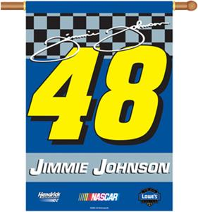 "NASCAR Jimmie Johnson #48 2-Sided 28"" x 40"" Banner"