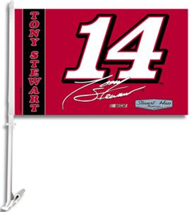"NASCAR Tony Stewart #14 2-Sided 11"" x 18"" Car Flag"
