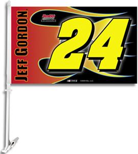 "NASCAR Jeff Gordon #24 2-Sided 11"" x 18"" Car Flag"