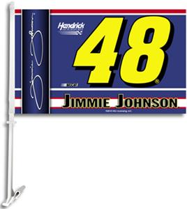 "NASCAR Jimmie Johnson 2-Sided 11"" x 18"" Car Flag"