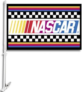 "NASCAR 2-Sided 11"" x 18"" Car Flag"