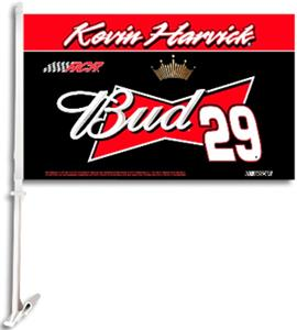 "NASCAR Kevin Harvick 2-Sided 11"" x 18"" Car Flag"