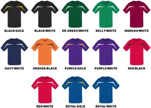 Baw Adult Short Sleeve Razor Jersey Shirts