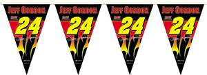 NASCAR Jeff Gordon #24 25ft Party Pennant Flags