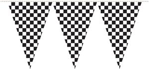 NASCAR Plain Checkered 25ft Party Pennant Flags