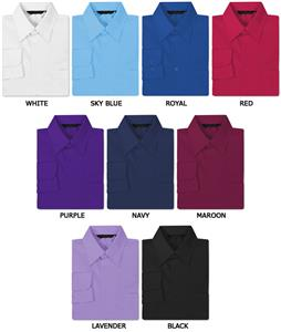 Men&#39;s LS Easy Care Rainbow Woven Shirts