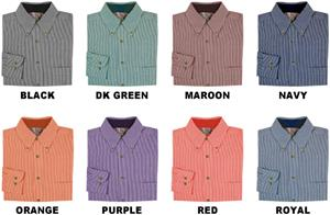 Men's LS Classic Stripe Gingham Woven Shirts