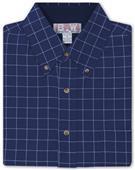 Baw Men's LS Window Pane Gingham Woven Shirts