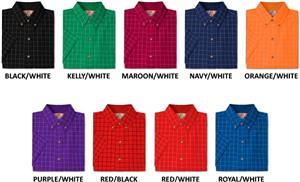 Men's SS Window Pane Gingham Woven Shirts