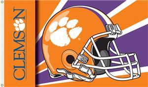 COLLEGIATE Clemson Tigers Helmet 3' x 5' Flag