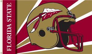 COLLEGIATE Florida State Helmet 3' x 5' Flag