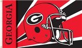 COLLEGIATE Georgia Bulldogs Helmet 3' x 5' Flag