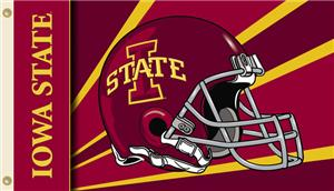COLLEGIATE Iowa State Cyclones Helmet 3' x 5' Flag