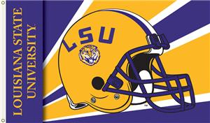 COLLEGIATE Louisiana State Helmet 3' x 5' Flag