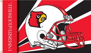 COLLEGIATE Louisville Helmet 3' x 5' Flag