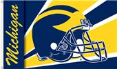 COLLEGIATE Michigan Wolverines Helmet 3' x 5' Flag
