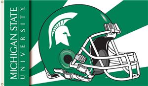 COLLEGIATE Michigan State Helmet 3' x 5' Flag