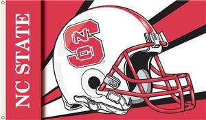 COLLEGIATE NC State Wolfpack Helmet 3' x 5' Flag