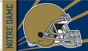 COLLEGIATE Notre Dame Helmet 3' x 5' Flag