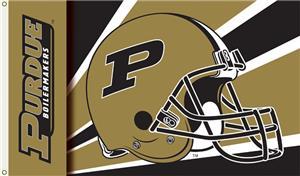 COLLEGIATE Purdue Boilermakers Helmet 3' x 5' Flag