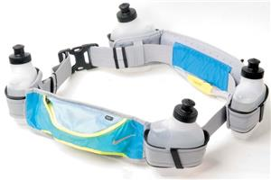 NIKE Grey Lightweight Hydration Belt 4 Bottle