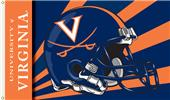 COLLEGIATE Virginia Cavaliers Helmet 3' x 5' Flag