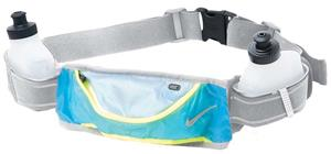 NIKE Grey Lightweight Hydration Belt 2 Bottle