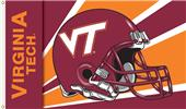 COLLEGIATE Virginia Tech Helmet 3' x 5' Flag