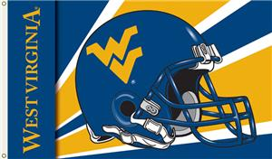 COLLEGIATE West Virginia Helmet 3' x 5' Flag