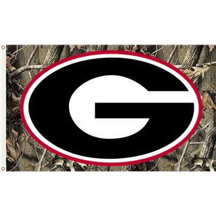 COLLEGIATE Georgia Realtree Camo 3' x 5' Flag