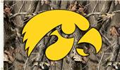 COLLEGIATE Iowa Realtree Camo 3' x 5' Flag