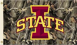 COLLEGIATE Iowa State Realtree Camo 3' x 5' Flag