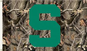 COLLEGIATE Michigan St. Realtree Camo 3&#39; x 5&#39; Flag