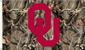 COLLEGIATE Oklahoma Realtree Camo 3&#39; x 5&#39; Flag