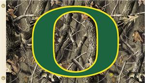 COLLEGIATE Oregon Realtree Camo 3' x 5' Flag