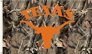 COLLEGIATE Texas Realtree Camo 3&#39; x 5&#39; Flag