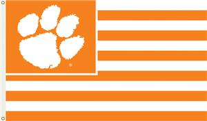 COLLEGIATE Clemson Stripes 3' x 5' Flag