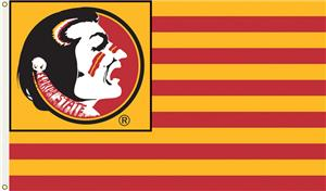 COLLEGIATE Florida State Stripes 3' x 5' Flag